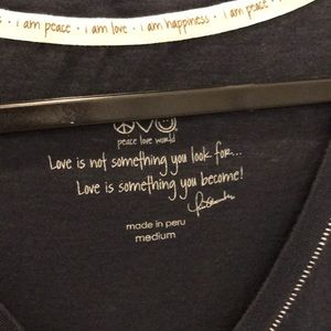 Peace Love World Tops - Peace love world v neck t shirt medium